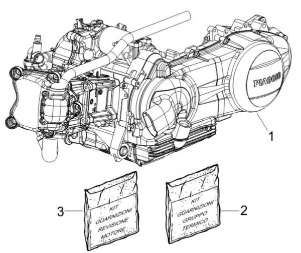 Motor Motor - Piaggio MP 3 250ccm 4T LC 2007- ZAPM47200