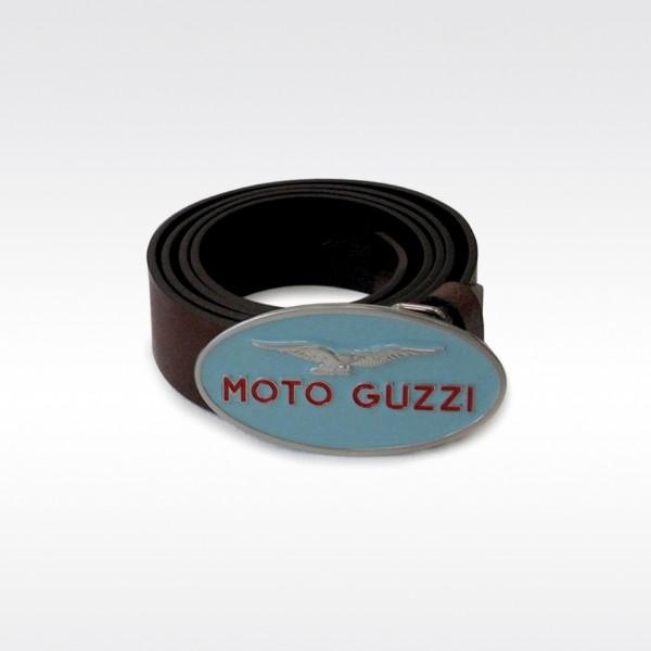 Moto Guzzi Gürtel, braun, Leder