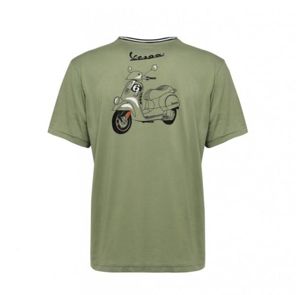 Vespa T-Shirt, 6 Days / Sei Giorni, Größe: M, grün