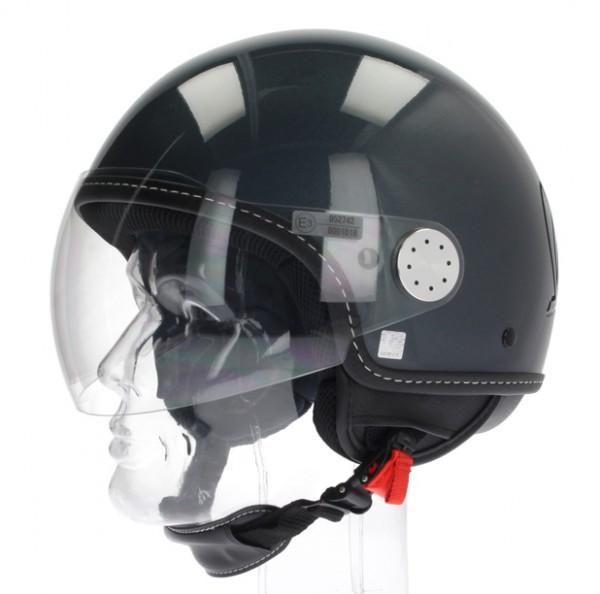 """Vespa Helm """"Visor"""" 2.0 Jethelm Grau Dolomiti"""
