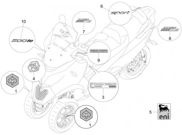 Fahrgestell Dekore - Piaggio MP 3 500ccm 4T LC 2015- ZAPM86101