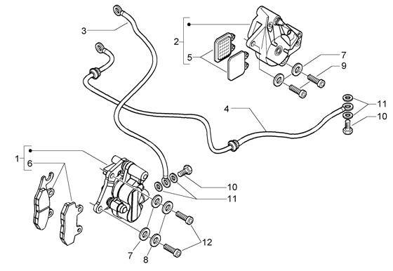 Bowdenzüge Bremsanlage - Vespa GT 125ccm 4T LC 2003- ZAPM3110000001001