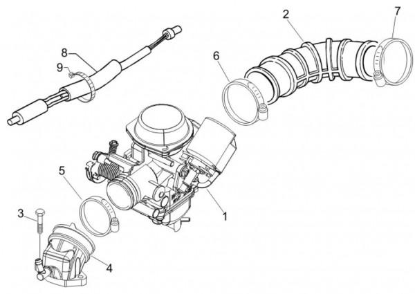 Motor Vergaser - Vespa S 50ccm 4T 2V AC 2012- ZAPC38901