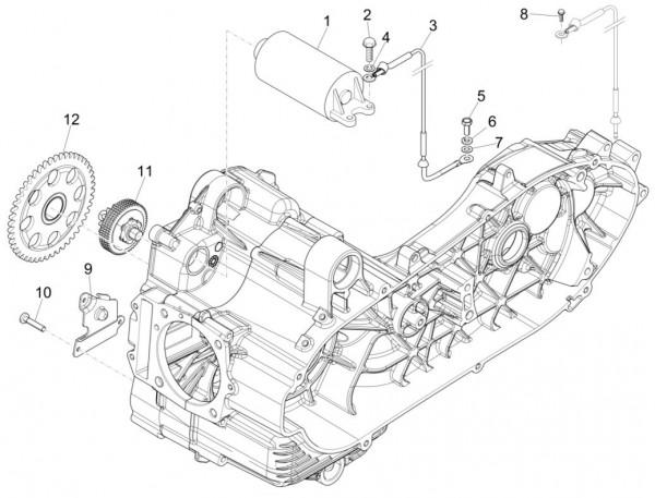Motor Anlasser - Piaggio MP 3 500ccm 4T LC 2015- ZAPM86100
