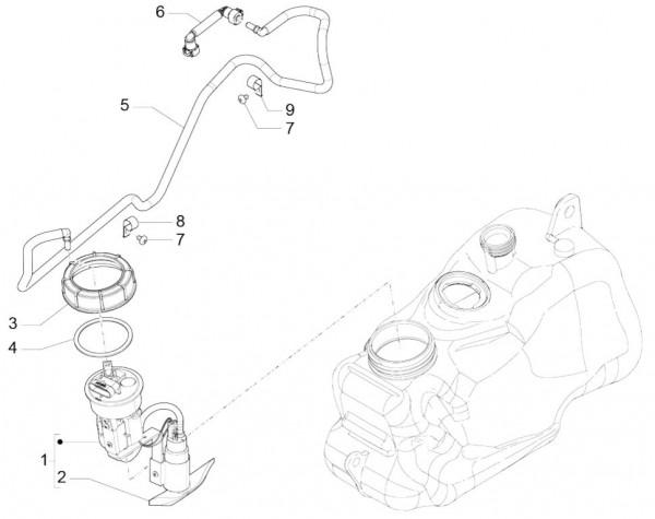 Fahrgestell Benzinpumpe - Piaggio MP 3 500ccm 4T LC 2015- ZAPM86101
