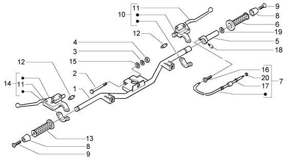 Lenker Lenker - Vespa GT 125ccm 4T LC 2003- ZAPM3110000001001