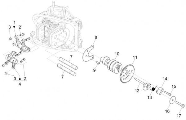 Motor Schwinghebelhalterung - Piaggio MP 3 500ccm 4T LC 2015- ZAPM86101