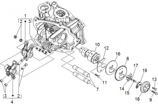 Motor Schwinghebelhalterung - Piaggio MP 3 250ccm 4T LC 2008- ZAPM47200