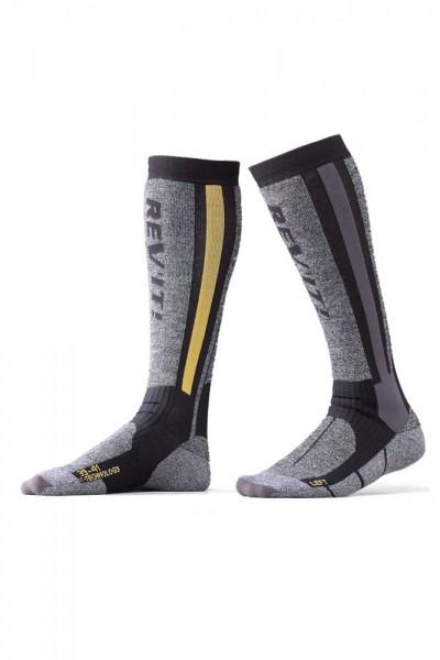 Revit Tour Winter Socken - Grau-Gelb