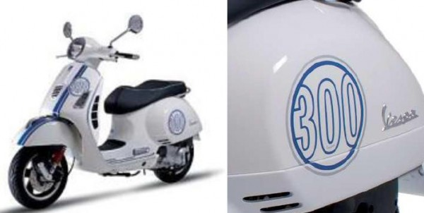 Original Vespa Sticker-Kits (blau) für Vespa GTS Super