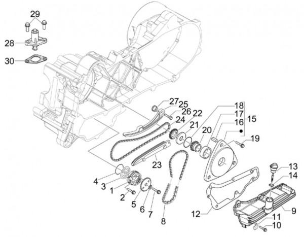Motor Ölpumpe - Vespa S 50ccm 4T 2V AC 2012- ZAPC38901