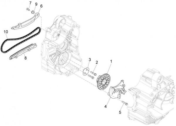 Motor Ölpumpe - Piaggio MP 3 500ccm 4T LC 2015- ZAPM86101