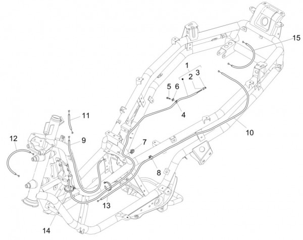 Bowdenzüge Bowdenzüge - Piaggio MP 3 500ccm 4T LC 2015- ZAPM86101