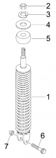 Radaufhängung Stoßdämpfer hinten - Vespa S 50ccm 4T 2V AC 2012- ZAPC38901