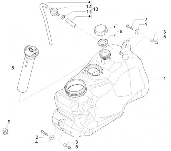 Fahrgestell Benzintank - Piaggio MP 3 500ccm 4T LC 2015- ZAPM86100