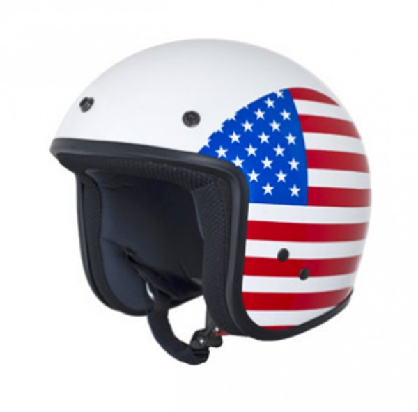 Vespa Jethelm Flag USA