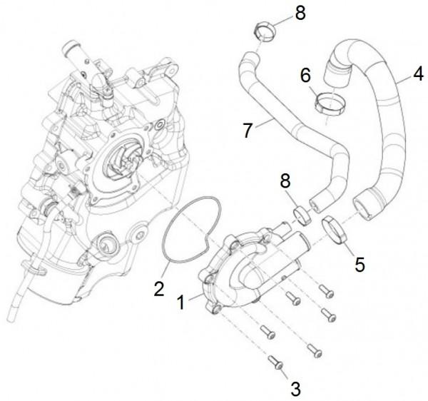 Motor Wasserpumpe - Piaggio MP 3 500ccm 4T LC 2015- ZAPM86101