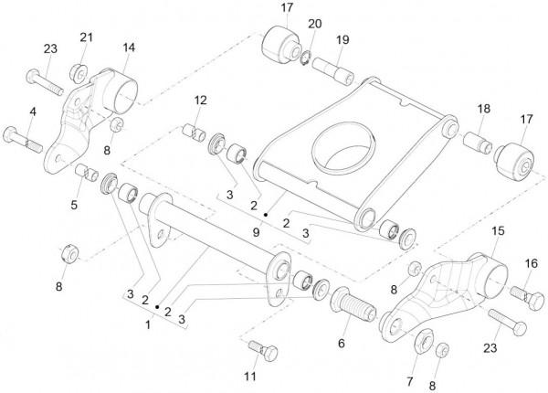 Radaufhängung Schwingarm - Piaggio MP 3 500ccm 4T LC 2015- ZAPM86100