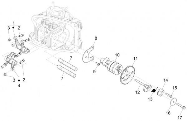Motor Schwinghebelhalterung - Piaggio MP 3 500ccm 4T LC 2015- ZAPM86100