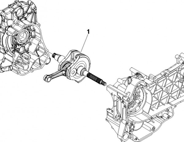 Motor Kurbelwelle - Piaggio MP 3 250ccm 4T LC 2007- ZAPM47200