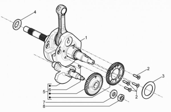Motor Kurbelwelle - Piaggio MP 3 500ccm 4T LC 2015- ZAPM86101