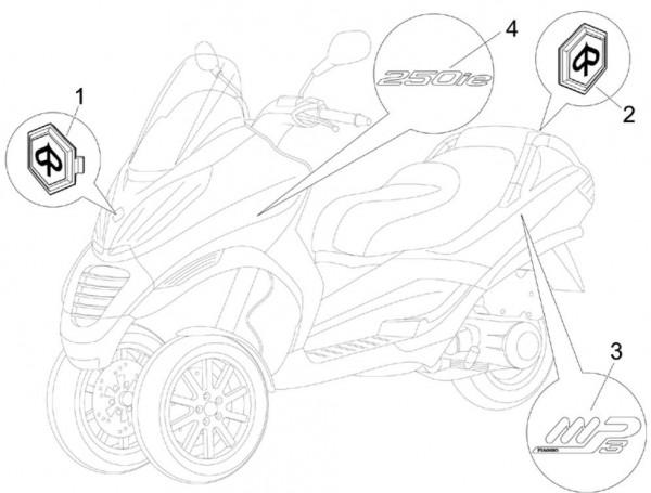 Fahrgestell Dekore - Piaggio MP 3 250ccm 4T LC 2008- ZAPM47200