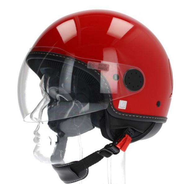 """Vespa Helm """"Visor"""" 2.0 Jethelm Rot Dragon"""