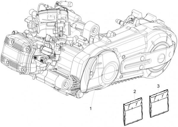 Motor Motor - Piaggio MP 3 500ccm 4T LC 2015- ZAPM86100