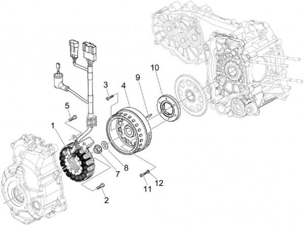 Motor Lichtmaschine - Piaggio MP 3 250ccm 4T LC 2007- ZAPM47200