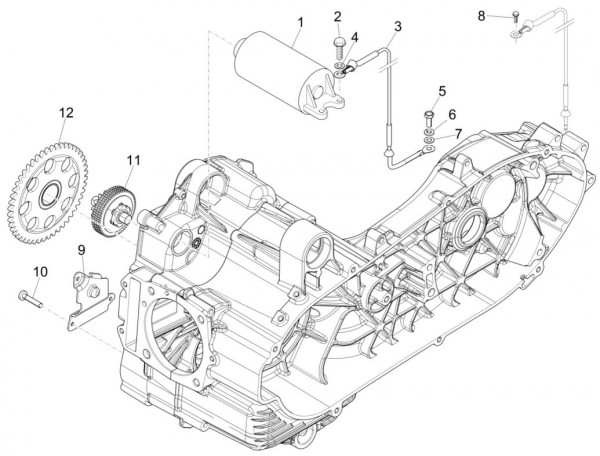 Motor Anlasser - Piaggio MP 3 500ccm 4T LC 2015- ZAPM86101