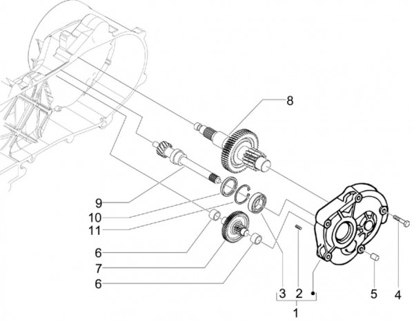 Motor Getriebe - Vespa S 50ccm 4T 2V AC 2012- ZAPC38901