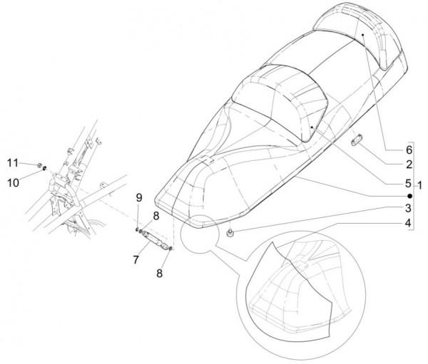 Fahrgestell Sitz - Piaggio MP 3 500ccm 4T LC 2015- ZAPM86100