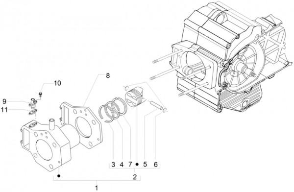Motor Zylinder - Piaggio MP 3 500ccm 4T LC 2015- ZAPM86100