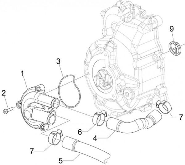 Motor Wasserpumpe - Piaggio MP 3 250ccm 4T LC 2007- ZAPM47200