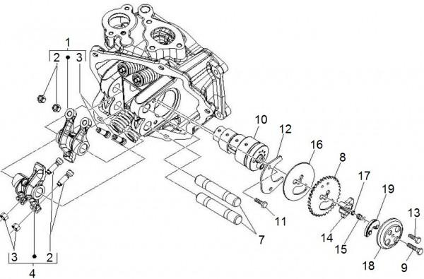Motor Schwinghebelhalterung - Piaggio MP 3 250ccm 4T LC 2007- ZAPM47200