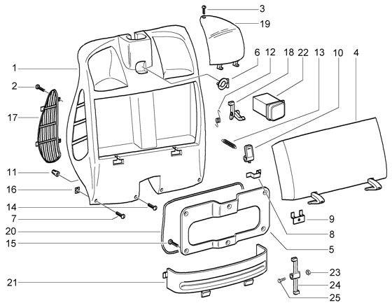 Fahrgestell Gepäckfach - Vespa GT 125ccm 4T LC 2003- ZAPM3110000001001