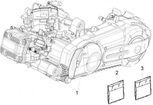 Motor Motor - Piaggio MP 3 500ccm 4T LC 2015- ZAPM86101