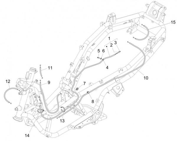 Bowdenzüge Bowdenzüge - Piaggio MP 3 500ccm 4T LC 2015- ZAPM86100