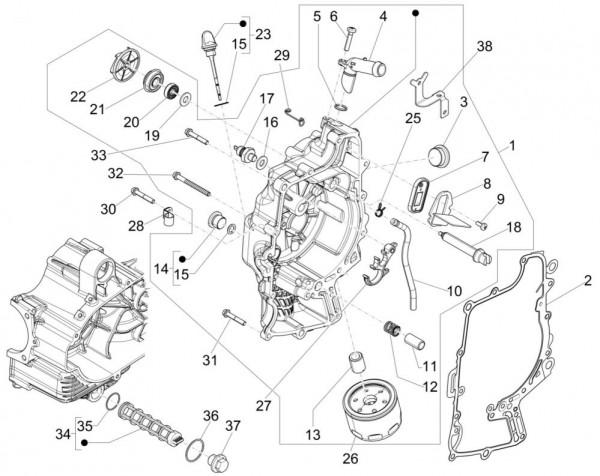 Motor Ölfilter - Piaggio MP 3 500ccm 4T LC 2015- ZAPM86101