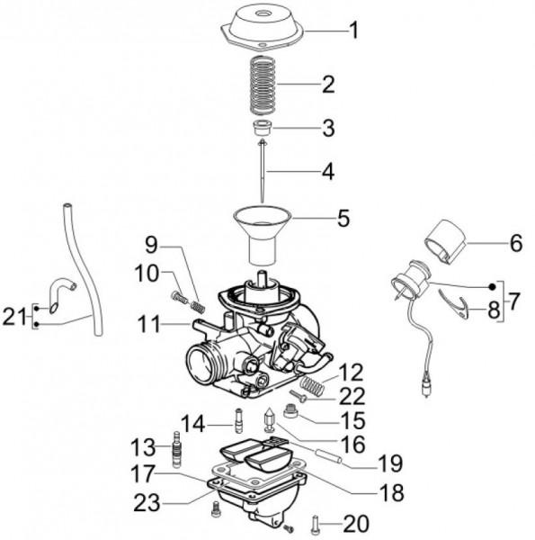 Motor Vergaserkomponenten - Vespa S 50ccm 4T 2V AC 2012- ZAPC38901