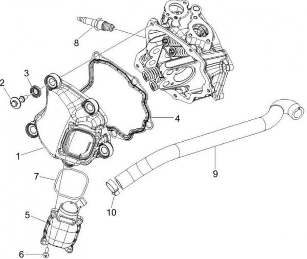 Motor Zylinderkopfabdeckungen - Piaggio MP 3 250ccm 4T LC 2008- ZAPM47200