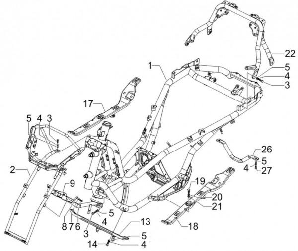 Fahrgestell Fahrgestell - Piaggio MP 3 250ccm 4T LC 2007- ZAPM47200