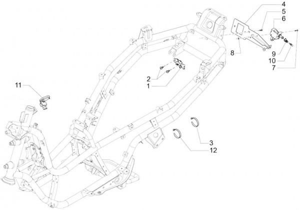 Elektrische Anlage Schloßsatz - Piaggio MP 3 500ccm 4T LC 2015- ZAPM86101
