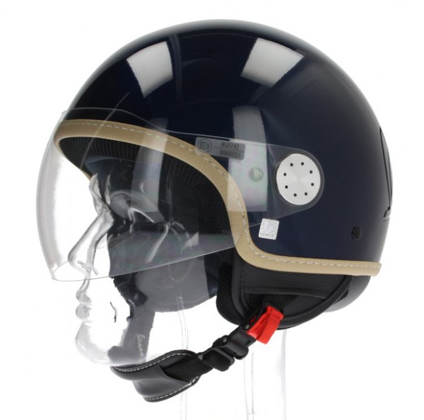 "Vespa Helm ""Visor"" 2.0 Jethelm Blau Midnight"