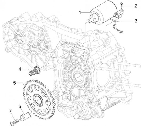 Motor Anlasser - Piaggio MP 3 250ccm 4T LC 2008- ZAPM47200