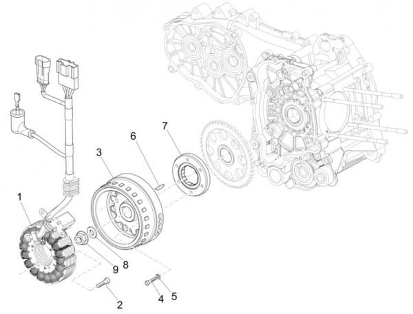 Motor Lichtmaschine - Piaggio MP 3 500ccm 4T LC 2015- ZAPM86100