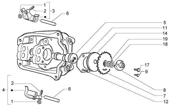 Motor Schwinghebelhalterung - Vespa GT 125ccm 4T LC 2003- ZAPM3110000001001