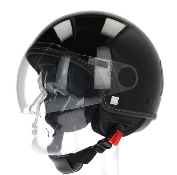 """Vespa Helm """"Visor"""" 2.0 Jethelm Glossy schwarz"""